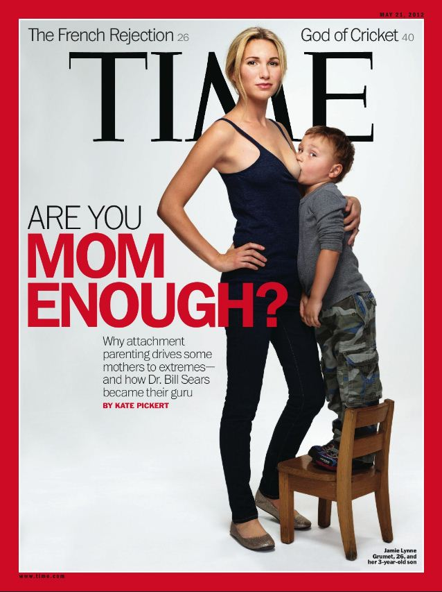 Time Magazines New Cover Shows Mom Breast Feeding Big Ass 3 Year Old